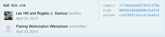 Github hitch commit message